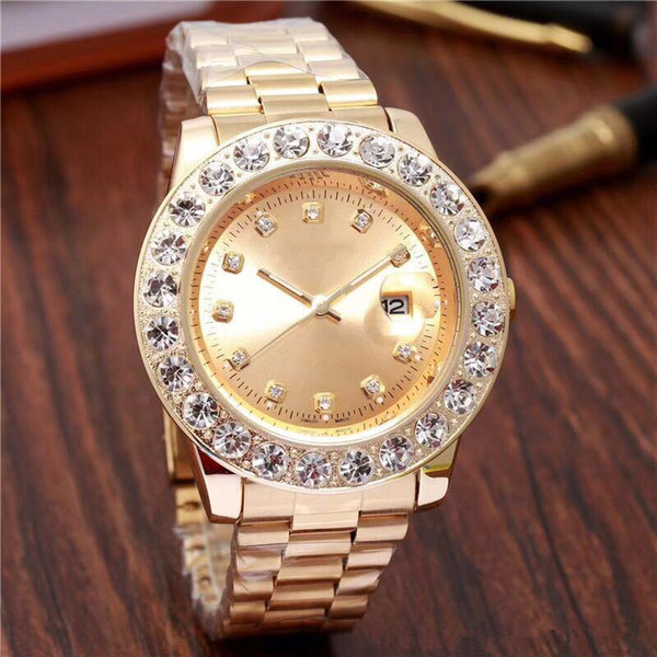 relogio Gold Luxury Men Automatic Iced Out Watch Mens Brand Watch Daydate President Wristwatch Red Business Reloj Big Diamond Watches men 19