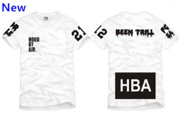Size S--3XL 2018 summer t shirt Hood By Air HBA Been Trill blank print Hba tee men tshirts 4 color cotton W2
