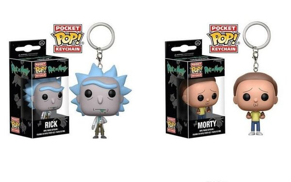 Funko Pocket POP Keychain - Rick and Morty Vinyl Figure Keyring with Box Toy Gift Good Quality Free Shipping
