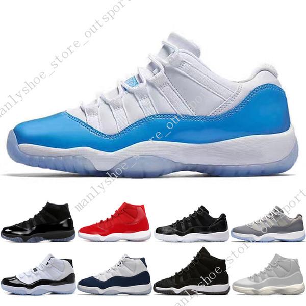 11 11s Cap and Gown Prom Night Men Zapatos de baloncesto Platinum Tint Gym Rojo Bred PRM Heerress Barons Concord 45 Gana como 96 zapatillas deportivas para hombre
