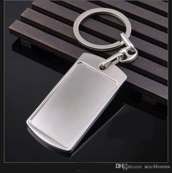 Moda Clássico Liga de Zinco Lembrança Retângulo Chaveiro Criativo Presentes do Negócio Chaveiro Anel Chave Trinket Atacado Xmas Presentes H844R