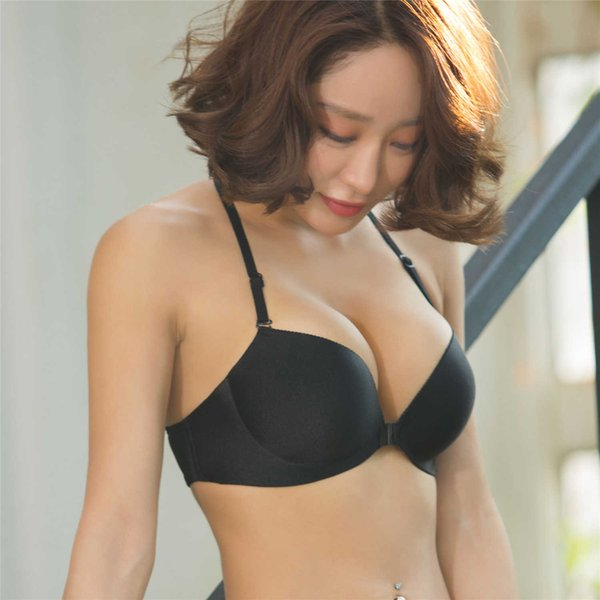 Explosion models sexy back bra sexy gathered underwear without a palm cup Glossy concentrated on the free shipping black color camouflage