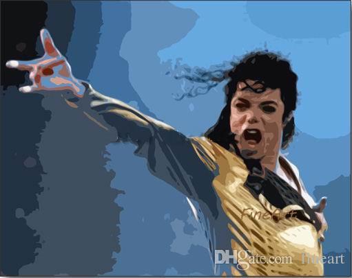 fait à la main pop art peinture à l'huile sur toile discount meilleur art toile ensemble de peinture Michael Jackson décoration murale art