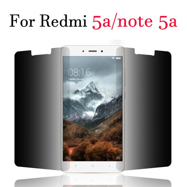 For xiaomi redmi 5a privacy screen protector xiomi redmi note 5a protection glas a5 glass xiami xaomi protection tempered film