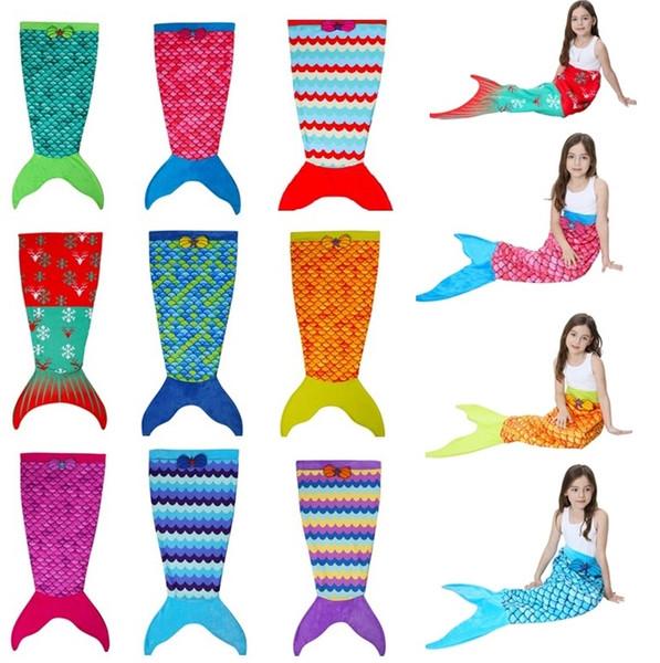 Textiles para el hogar nuevas niñas mantas sirena manta de la cola, sacos de dormir, mantas de los niños sirena manta I312