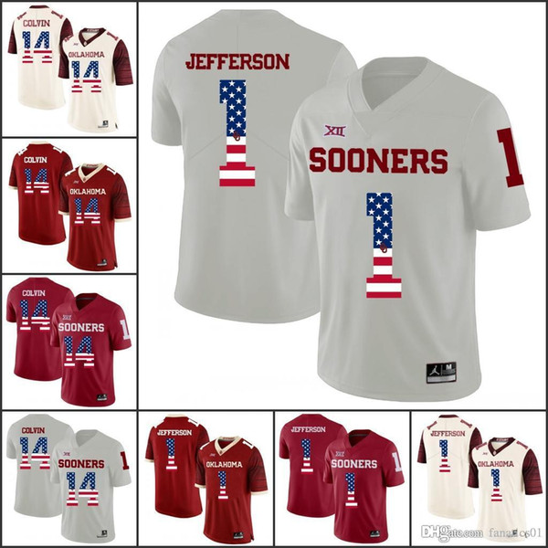 National flag Oklahoma Sooners College Football 2018 NCAA Jersey Shepard Okoronkwo Nettles Flowers Stills Sermon Ripkowski Brown Williams