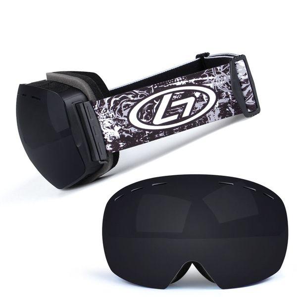 Gafas de snowboard de deportes de nieve de invierno con protección UV antivaho para hombres Mujeres jóvenes Moto de nieve Esquí máscara de patinaje
