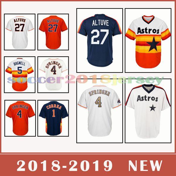 low priced 56ff8 bede3 2018 Houston Astros Baseball Jersey 27 Jose Altuve 4 George Springer 35  Justin Verlander 2018 2019NEW From New_sports_jersey, $20.31 | DHgate.Com