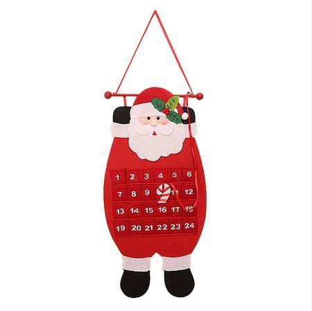 top popular Christmas Decoration Calendar Countdown Nonwovens Calendar Santa Claus 2020