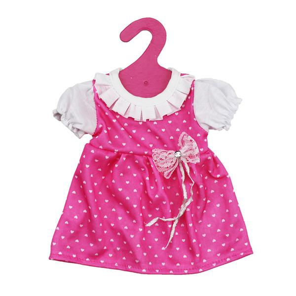 2018 Hot Beautiful Doll Pink Dress Fit 43cm Bebé nacido zapf 18 pulgadas American Girl Dolls distintivo-gee