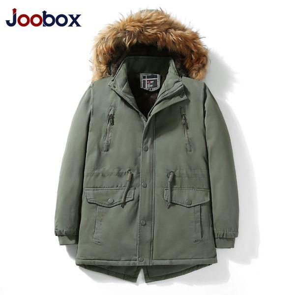 2018 New Parka Men Parka Winter Thick Warm Multi Pocket Hat Detachable Solid for Male Plus Size L-XXXL Casual Jacket Man