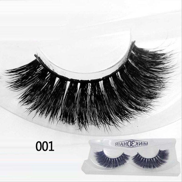 200pairs Fashion Mink false eyelashes Thick long eyelashes Black fake eyelash packing lash natural eye lash #3D001