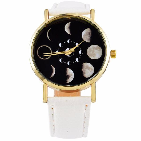 Solar Moon Phase Lunar Eclipse Watch Women Stylish Quartz Watch Leather Bracelet Watches For Women Clock hour Relogio masculino