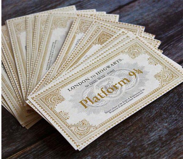 best selling World of Harry Potter Hogwarts London Express Train Ticket Hogwarts Express train Ticket Ornament Paper Toys for Kids Fans