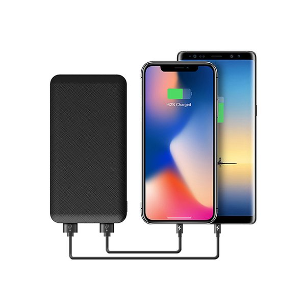 Slim 10000 mAh Mobile charger Power Bank,Portable Ultra-thin Polymer Power bank battery charger With LED Light for iPhone X samsung S8 Plus