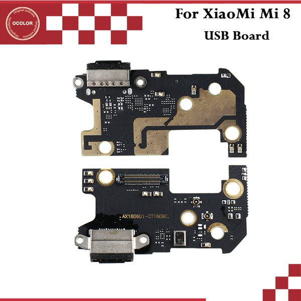 ocolor For XiaoMi Mi 8 USB Plug Charge Board Assembly Repair Parts For XiaoMi Mi 8 USB Board Mobile Phone Accessories In Stock