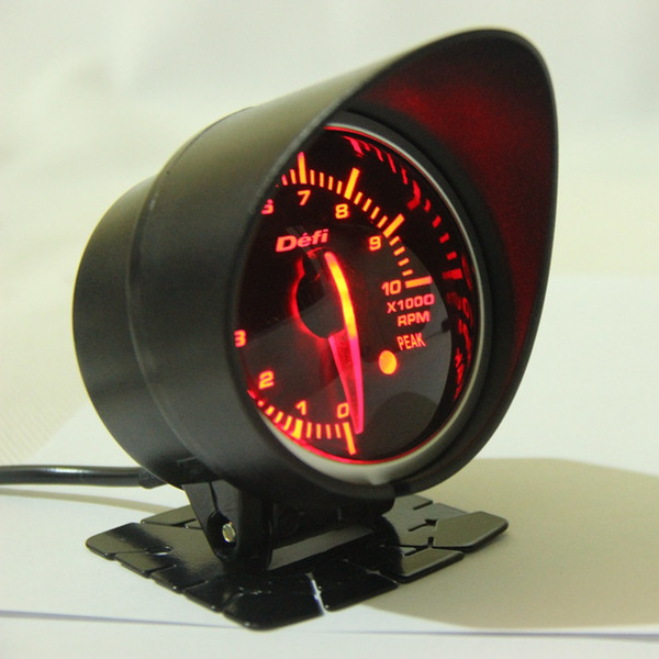 top popular Free Shipping 60mm 2.5 Inch DEFI BF Style Racing Gauge Car RPM Gauge with Red & White Light Tachometer Sensor 2021