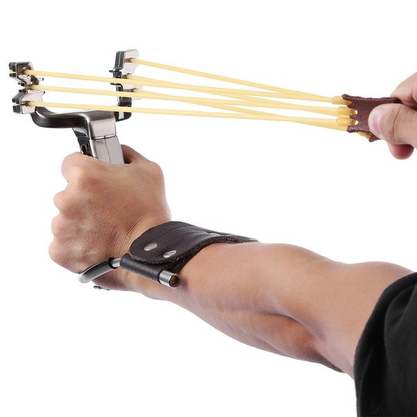 Free Shipping Stainless Steel Powerful Slingshot Catapult Outdoor Hunting Equipment Hunter Sling Shot