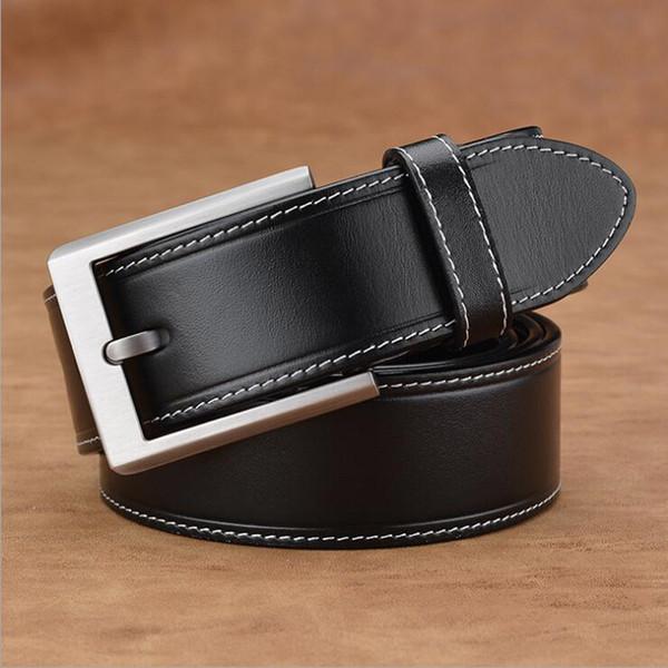 Erste Schicht Rindsleder Männer Gürtel Aus Echtem Leder Gürtel Männliche Klassische Gürtel Gentleman Jeans Strap Qualität Assuarance XKS036