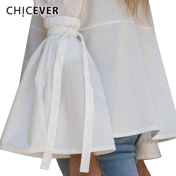 CHICEVER Guanti stringati fatti a mano per le donne Manicotto svasato con grande polsino allentato Accessori abbigliamento nero elastico Moda casual