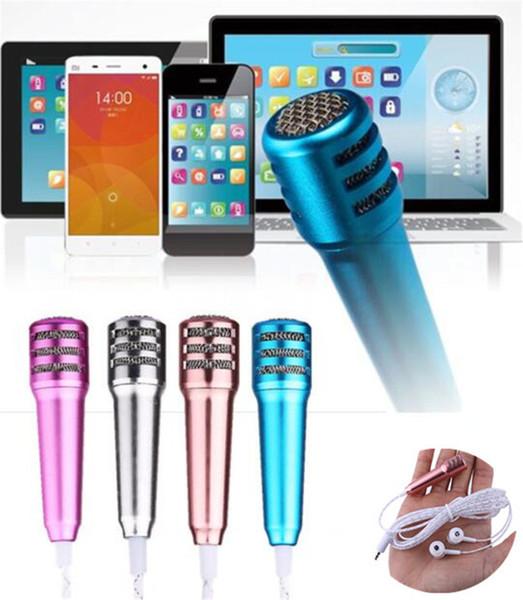 1pcs Mini Condenser Microphone headset KTV Songs perfume earphone k singing pocket karaoke headphone Portable Speaker for cell phone
