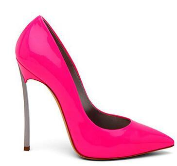 Four Seasons New Pointed High-heeled Metal Stiletto Simple Wild Shallow mouth Nightclubs Singles shoes Black Work shoes