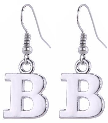 lemegeton Metal Material Jewelry Accessories 26 Letter and Alphabet Shaped Hoop Earring Accessories Retail Fashion Retail