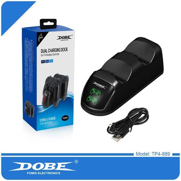 DOBE Dual Ladestation für PS4 Slim Pro Wireless Controller Dockingstation USB Dual-Ladegerät Dock TP4-889