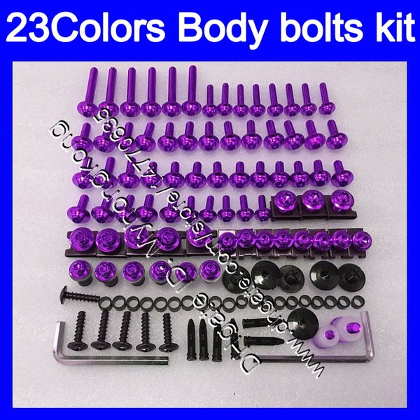 Kit completo de tornillos de carenado Para SUZUKI Katana GSXF750 GSX600F 03 04 05 06 07 2003 2004 2005 06 2007 Tuercas de cuerpo tornillos tuercas kit de tornillos 25Colores