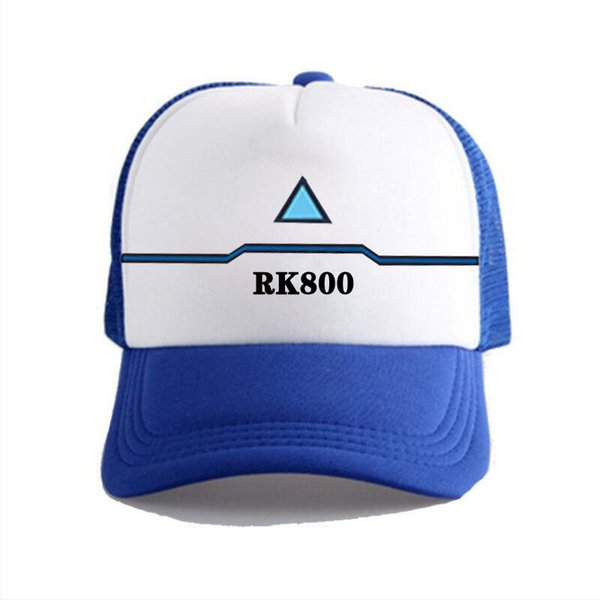 2018 New Anime Detroit Become Human Connor Hip Hop Unisex Adjustable Baseball Cap Summer Fitted Snapback Men Fitted Hats Caps