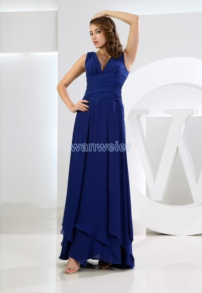 free shipping maxi dresses long 2018 royal blue vestidos formales brides maid dress plus size women's formal Bridesmaid Dresses