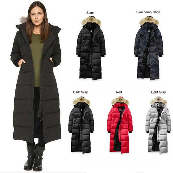 best selling Canada Women Down Jacket Hooded with Fur Collar Travel Winter Thick Warm Windproof Goose Long Coat Overcoat Outdoor Brand Hooded Outwear hot