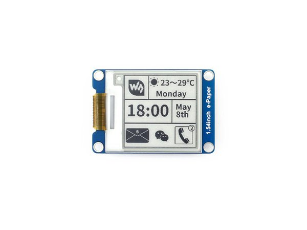 Freeshipping 1.54inch e-Paper Module 200x200 E-Ink Display Screen With Embedded Controller SPI Wide Viewing Angle Supports Partial Refresh
