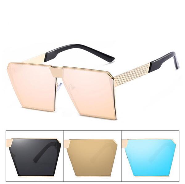 Marca Gran Diseñador Flat Men Twin Gafas Luxury Square Sol Elegant De La Top Metal Compre Beam Ladies Mujer Espejo 0N8wnm