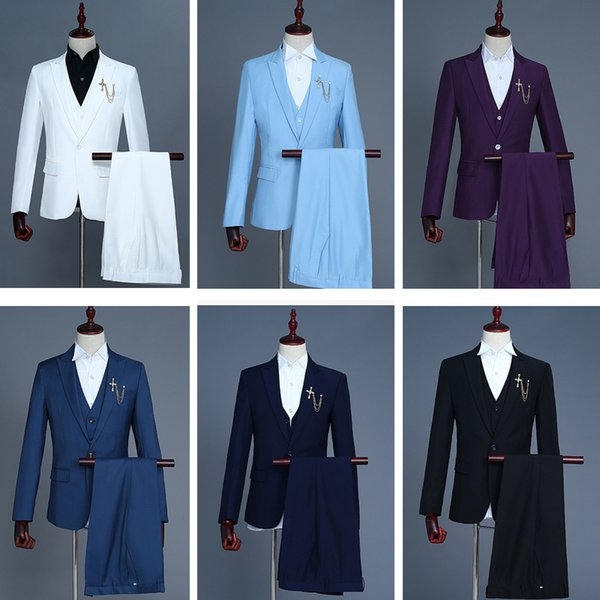 New Arrival 2018 Fashion simple Long Sleeve 12 Colors Nightclub singer Stage Performance Show Jacket Costumes Slim Male Suits Blazer S-2XL