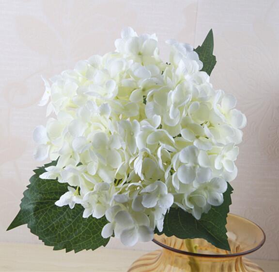 Artificial Hydrangea Flower Head 47cm Fake Silk Single for Wedding Centerpieces Home Party Decorative Flowers wedding SF020