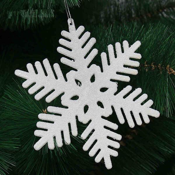 2017 New Christmas decoration15cm white flash Christmas snowflakes for Tree/Window/Showcase Decoration