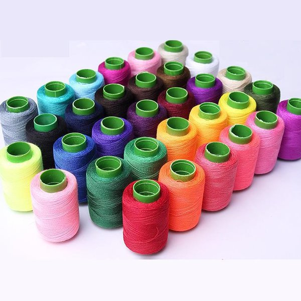 25color 2 PCS Silver Polyester Machine Embroidery Sewing Threads Hand Sewing Thread Craft Patch Steering-wheel Supplies