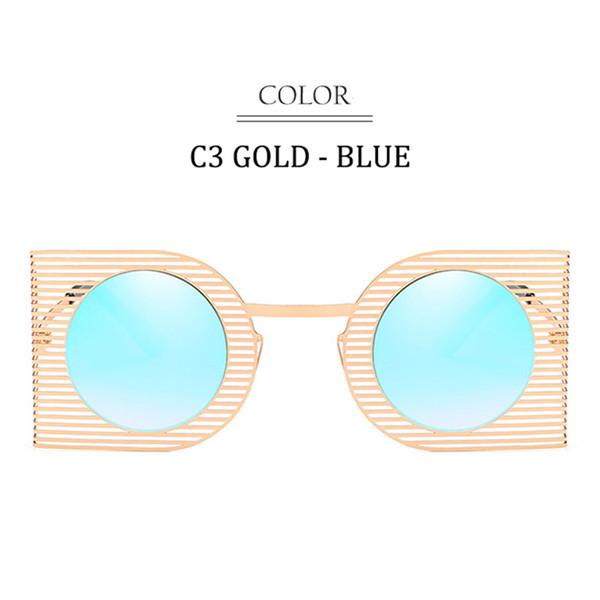C3 Gold Frame Blue Mirror