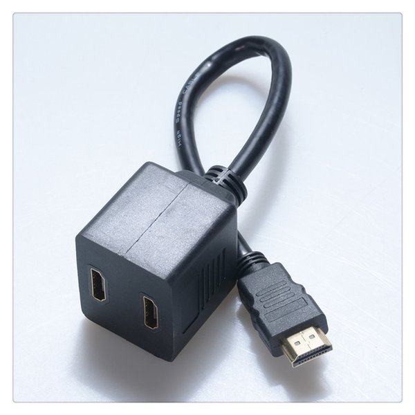 HDMI сплиттер (от 1 до 2 ) ПРЕМИУМ сплиттер кабель мужской женский сплиттер цвет черный Бесплатная доставка