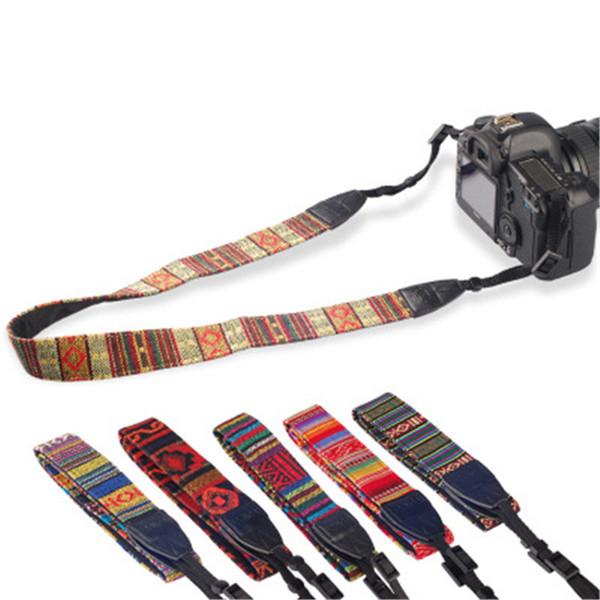 Ceinture multicolore avec bandoulière et ceinture pour caméra Nikon Canon Sony DSLR z192