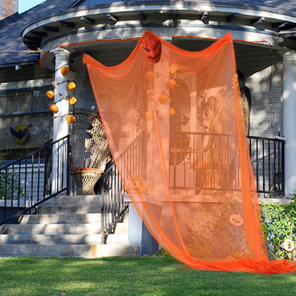 3colors Halloween Hanging curtains Ghost Haunted House Skull Skeleton Escape Horror Door KTV Bar outdoor Decor Props