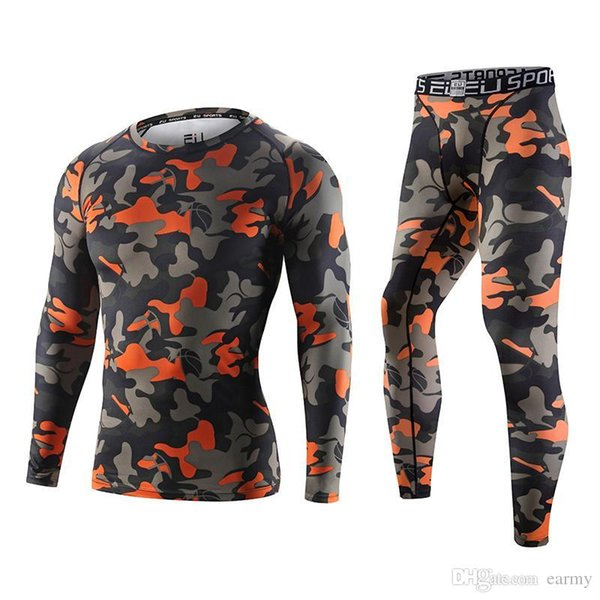 Men Football Soccer Running Sets Sports Pants Shorts Shirts Compression Tights Basketball underwear Fitness Gym shirts leggings