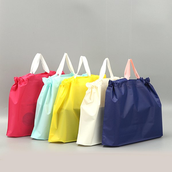 Pretty Color Plastic Jewelry Gift bag Handbag Shopping Bags For Cosmetic Package Clothes Hat Free Shipping QW7313