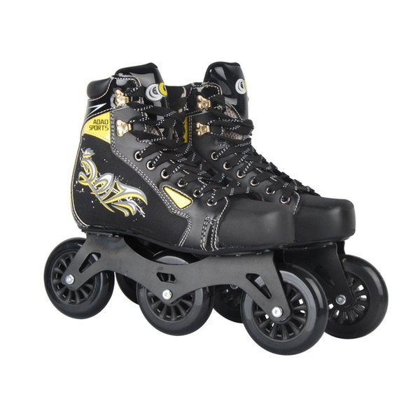2018 Aoao 2018 New Cool Inline Professional Adult Slalom Ice Speed Skating  Shoes Adjustable Washable Paint Pu Wheels Adulto Men From Cumax, $148 02  