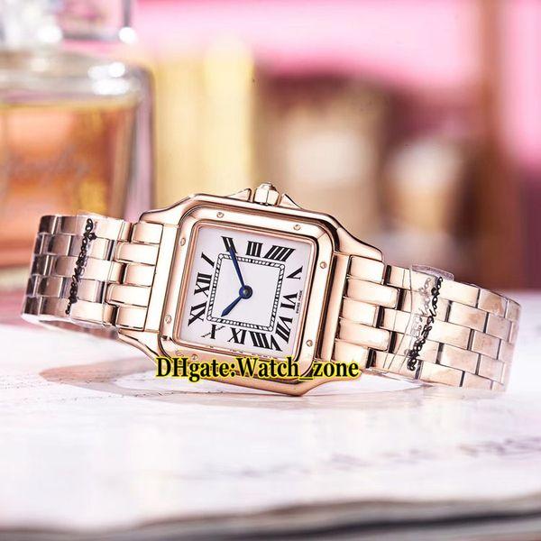 Nouveau 27mm Panthere de WGPN0007 Cadran Blanc Suisse Quartz Montre Pour Femmes Or Rose Caes Bracelet 13 Style Pas Cher Nouvelle Mode Lady Montres