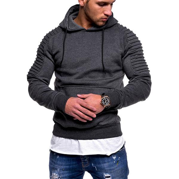 Vestuário de moda 2018 pullover camisola dos homens quentes high-end tamanho grande casual cor sólida camisa casual conforto esportes um longo-sleeved camisola