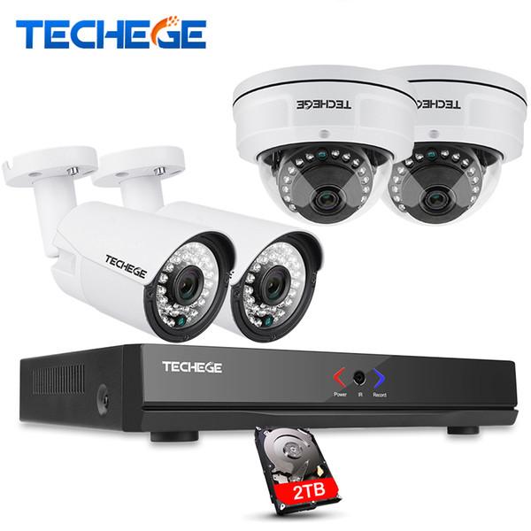 4CH 1080P POE 48V Real NVR kit 1080P HD Vandalproof Dome camera 2.0MP POE IP Camera IR 20M POE CCTV Camera System Plug and Play