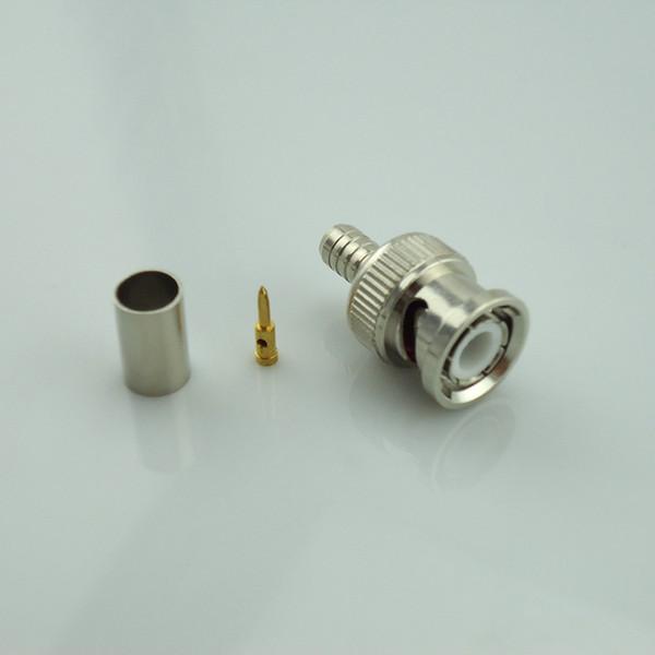 CCTV RG59 Coax BNC crimp on connector for  20pcs
