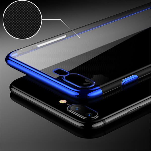 Para el caso del iPhone X con la caja protectora redonda colorida de la cubierta de TPU de 360 360 para el X-claro del iPhone con el borde del color
